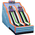 Triple Bay Roller Coaster Slide Inflatable