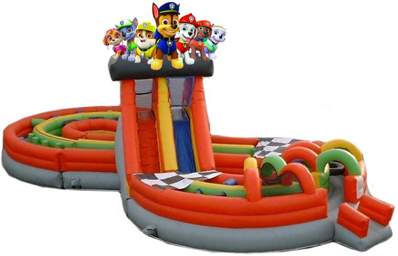 Paw Patrol Madness Obstacle Challenge Inflatable Rental
