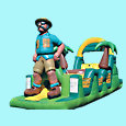 Safari Man Inflatable Obstacle Rental - Toronto, Mississauga, Brampton, Hamilton, Ottawa, Ontario