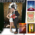 Selfie Photo Booth, with fun backdrops for great selfie photos. Great for weddings, parties, schools, bridal showers, stags, Jack and Jills, bachelorette parties, school fun days, family get-togethers, grad parties and more.